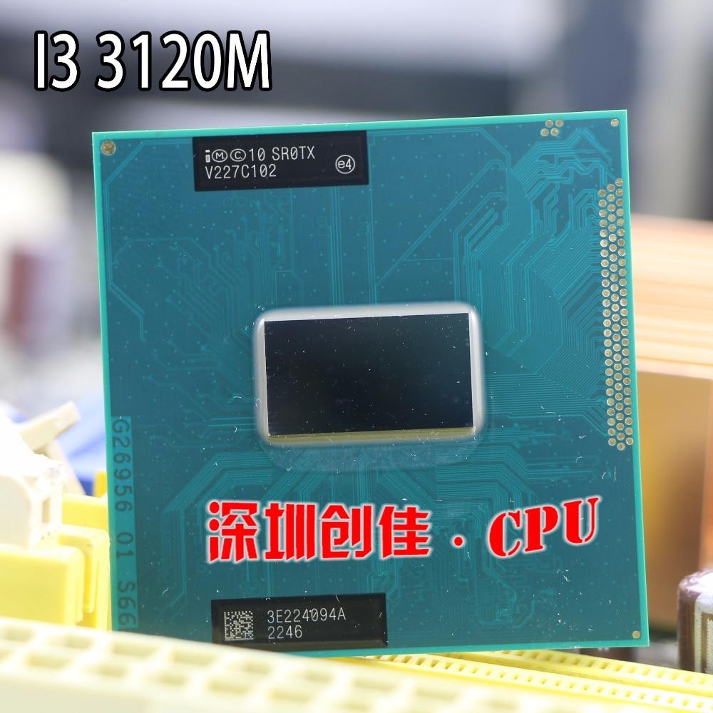 D'origine Intel Core I3 3120 M CPU ordinateur portable Core i3-3120M 3 M 2.50 GHz SR0TX processeur supporte HM75 HM77