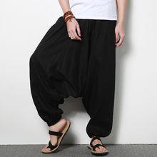 11900291629a Cotone Lino Kung Fu Pantaloni di Yoga Arti Marziali Sport Pantaloni Per Gli  Uomini Kendo Trail