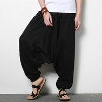 Cotton Linen Kung Fu Pants Yoga Martial Arts Sport Pants For Men Kendo Trail Wu Shu Trousers For Men Top Quality Brown Color 3XL