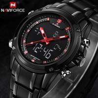 Watches Men NAVIFORCE Brand Sport Full Steel Digital LED Watch Reloj Hombre Army Military Wristwatch Relogio