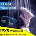 IPX5 Impermeable Auriculares Inalámbricos Auriculares Deportes Bluetooth Headset Gancho de Oreja los Auriculares de Música Auriculares Estéreo Con Micrófono