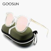 GOOSUN Fashion Unisex Square Clear Frame Sunglasses girls Brand Designer UV400 Men Sun Glasses Mirror pink Sunglass Original Box