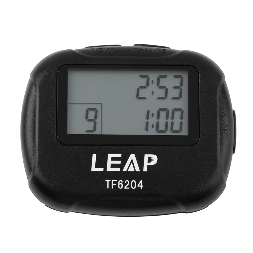 Interval Timer Sport Crossfit Boks Segment Joga Stoper TF6204 Czarny Interwał Eletronic Timer Chronograf Promocja Wyprzedaż