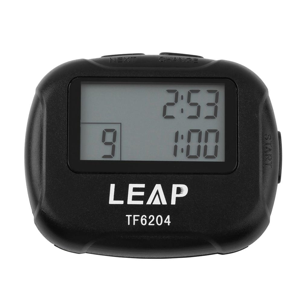 Interval Timer Sport Crossfit Boksen Yoga Segment Stopwatch TF6204 Zwart Interval Elektronisch Timer Chronograaf Promotie Aanbieding