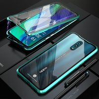 Luxury Metal Phone Cases for Oppo Reno Metal Bumper With Tempered Glass Body Full Protection for Oppo Reno Standard 10x Zoom