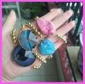 Druzy Quartz Stone beads stretch bracelet 4pcs/lot free ship Artilady Fashion unique jade Drusy Agate