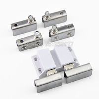 4Sets Stainless Steel Clamp Double Door Set Glass Door Pivot Hinge Set For 5 8mm Thickness Glass JF1274