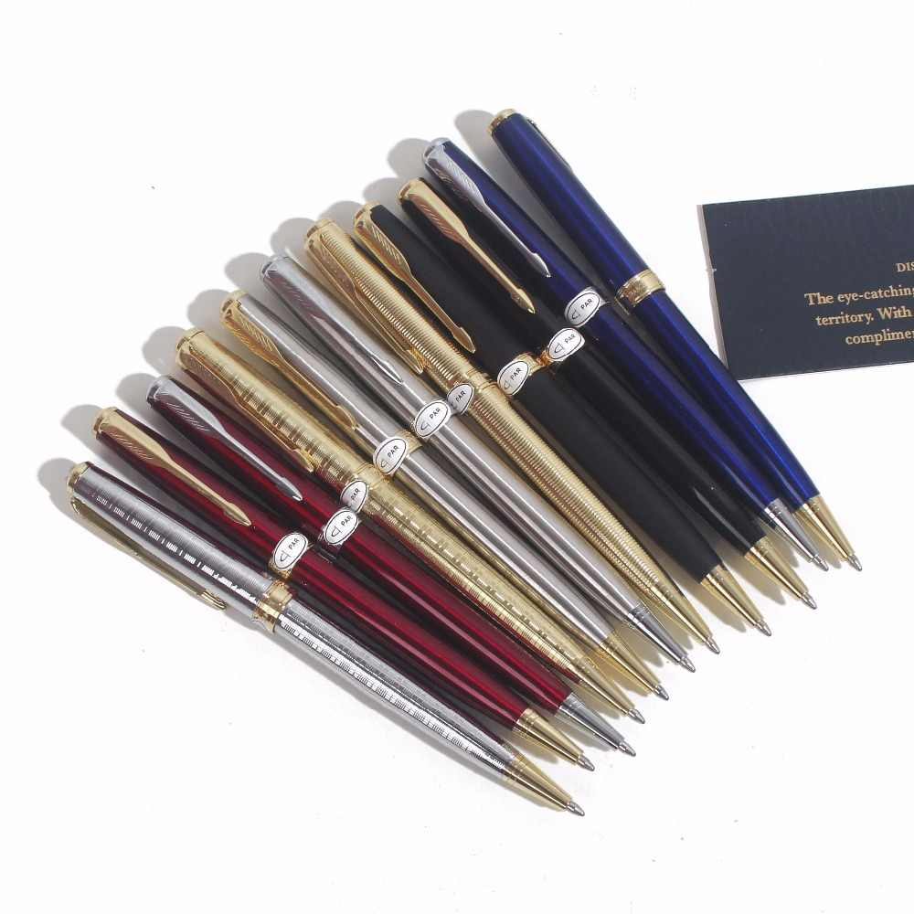 Sonneting Rollerball ปากกาโลหะ office Classic gold black gold คลิปปากกาของขวัญกล่องสีดำ