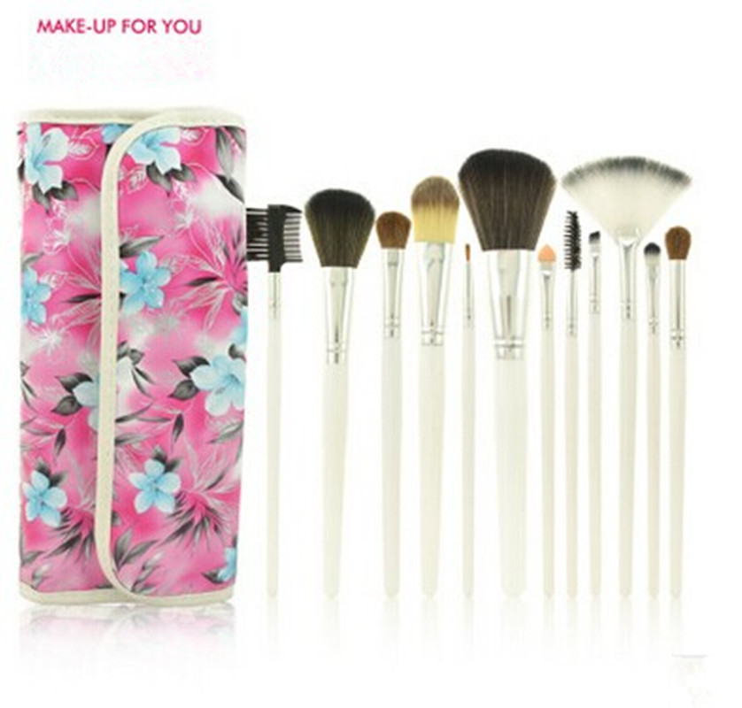 12 pcs/set Pony Hair fiber Makeup Brush Set Professional Eyeshadow Foundation Blusher Cosmetic Brushes MakeUp Tools Kit with bag банка для сыпучих продуктов букингем 630669