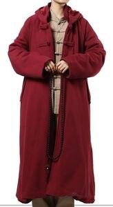 Image 3 - 4 kolor zima ciepłe buddyjskie mnichów shaolin cape medytacja płaszcz garnitury płaszcz lay abbot nun kung fu sztuki walki szata odzież