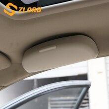 Zlord Car Sunglasses Sunglass Holder Box Case for Skoda Fabia Superb Rapid Yeti For BYD F3 F10 S6 G3 F0 F3R Glasses Case