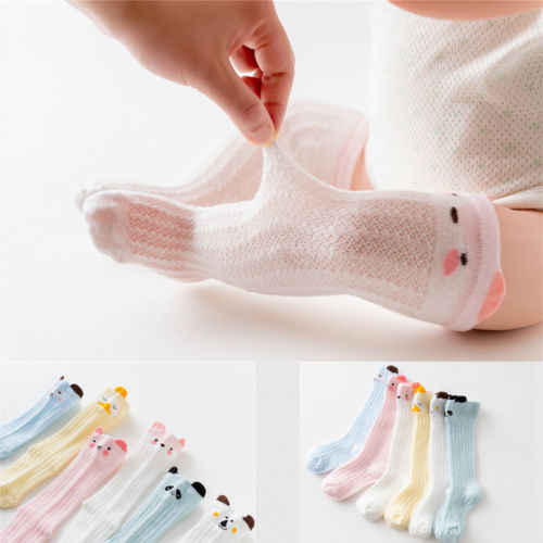 New Spring Fall Nebworn Soft Cotton Stockings Animal Print Kid Baby 1Pair Leg Warm Infant Toddler Breath Knee High Stocking Soft