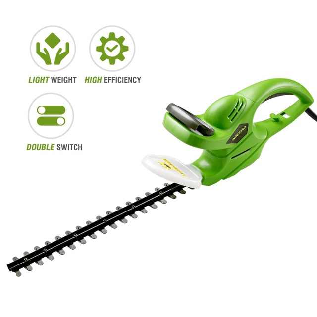 WORKPRO 500W Hedge Trimmer Power Shear Electric Rechargeable Weeding Shear Household Pruning Mower 1