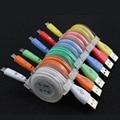 Diodo emissor de luz durável cabo micro usb carregador cabo de dados cabo de sincronização para samsung e telefone celular andriod