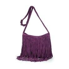 Women Tassel Fringe Shoulder Messenger Suede Hand Bag Purse