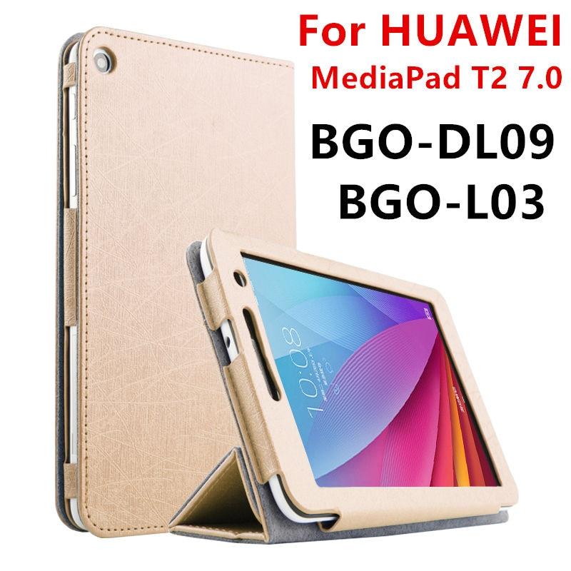 Cas Pour Huawei MediaPad T2 7.0 De Protection Smart cover Faux de la Tablette En Cuir Pour HUAWEI BGO-DL09 BGO-L03 PU Protecteur