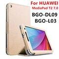 Funda para huawei mediapad t2 7.0 tableta cubierta elegante de cuero de imitación de protección para huawei bgo-dl09 bgo-l03 protector pu