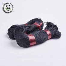 Китайский хлопковый вощеный шнур 1 мм 1,5 мм фурнитура для браслетов, ожерелья, плетеные украшения, сделай сам, черный, красный, белый, около 350 м/упаковка