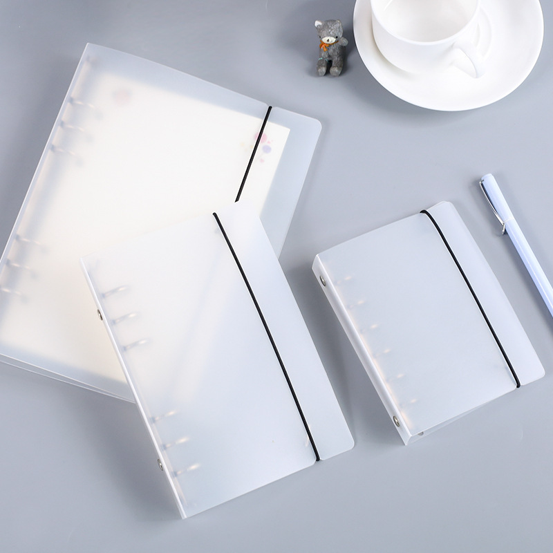 Coloffice Creative PP Plastic Folder Frosted Filing Product Notebook Stationery Book Binder Folder 6 Hole Loose-leaf Binder 1pc