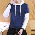 2016 New Arrival High fashion Hoodies Men's Hip Hop Sweatshirts Long Sleeve O-neck Outwear Streetwear Gray/Blue Free Shipping