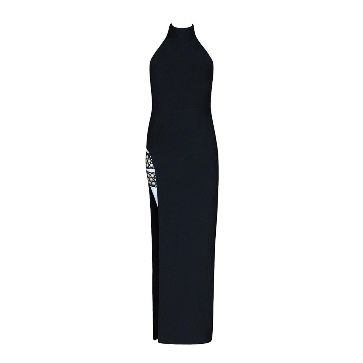 2018 Nu Noir Halter Partie Sexy Lacée Nouvelle Dos Robe Luxe Soirée Deavogy De Femmes 8dY8FR