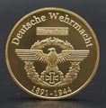 Сувенирная монета времен Второй мировой войны немецкая монета Erwin Rommel Marshal 24K позолоченная монета немецкий командир 40*3 мм польская монета 2 ш...