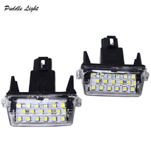 цена на 2x 18Smd  For Toyota Yaris/Vitz Camry Corolla Prius C Ractis Verso S Led Licence Number Plate LED Lamp Light OEM REPLACE