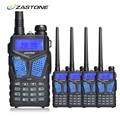 4 pcs ZT-V10 Zastone Rádio Portátil Walkie Talkie Dual Band VHF/UHF 136-174 MHz/400-520 MHz 5 W Woki Communicador Toki Rádio Em Dois Sentidos
