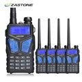 4 unids ZT-V10 Zastone Radio Portátil Walkie Talkie de Doble Banda VHF/UHF 136-174 MHz/400-520 MHz 5 W Woki Toki Radio de Dos Vías Communicador
