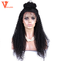 Mongolian Kinky Curly 360 Lace Frontal Wig Pre Plucked With Baby Hair Human Virgin Hair 180