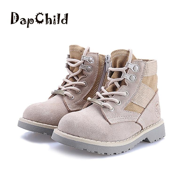 7ffd5697a40 DapChild Παιδικά μπότες Γνήσια δερμάτινα μάρκα Μάρτιος Μπότες ...
