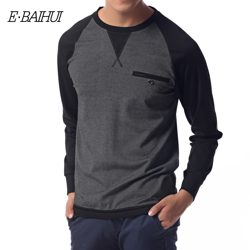 E-BAIHUI brand new 2017 autumn Winter fashion men hoodies casual cotton fleece male pullover mens crewneck sweatshirt  S029