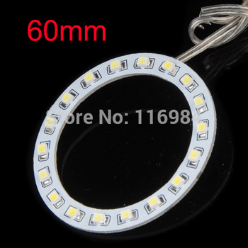 2PCS x Car Led Headlight 60mm 3528 18 SMD Angel Eyes Halo Ring Light , White/Blue/Yellow/Green/Red image
