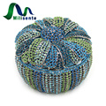 Milisent Silver Designer Flower Bag With Chain Crystal Clutches Flowerpot Shape Women Purse And Handbag Blue Luxury Diamond Bags