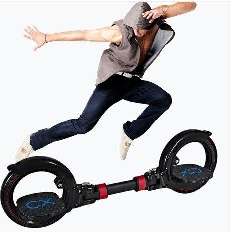 Nouvelle mise à niveau 2 deux roues planche à roulettes deux parties rouleau pliable dérive planche à roulettes cascadeur scooter pour les Sports extrêmes