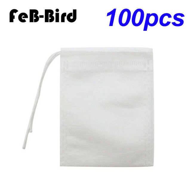 Us 2 55 19 Off Tea Bags 100 Pieces Disposable Bag Safe Natural Material 1 Cup Capacity Drawstring Empty For Loose Leaf In