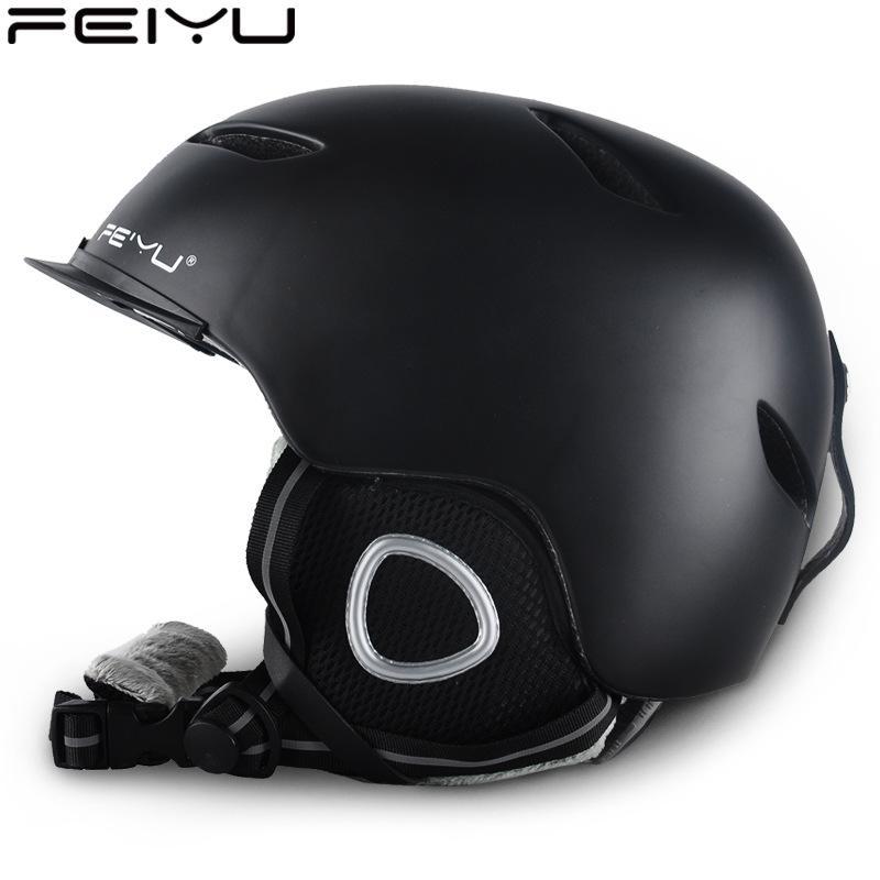 FeiYu Ski Hockey Skate Adult Men and Women Snowboarding Helmet Outdoor Sports Head Protective Cap Wear Equipment