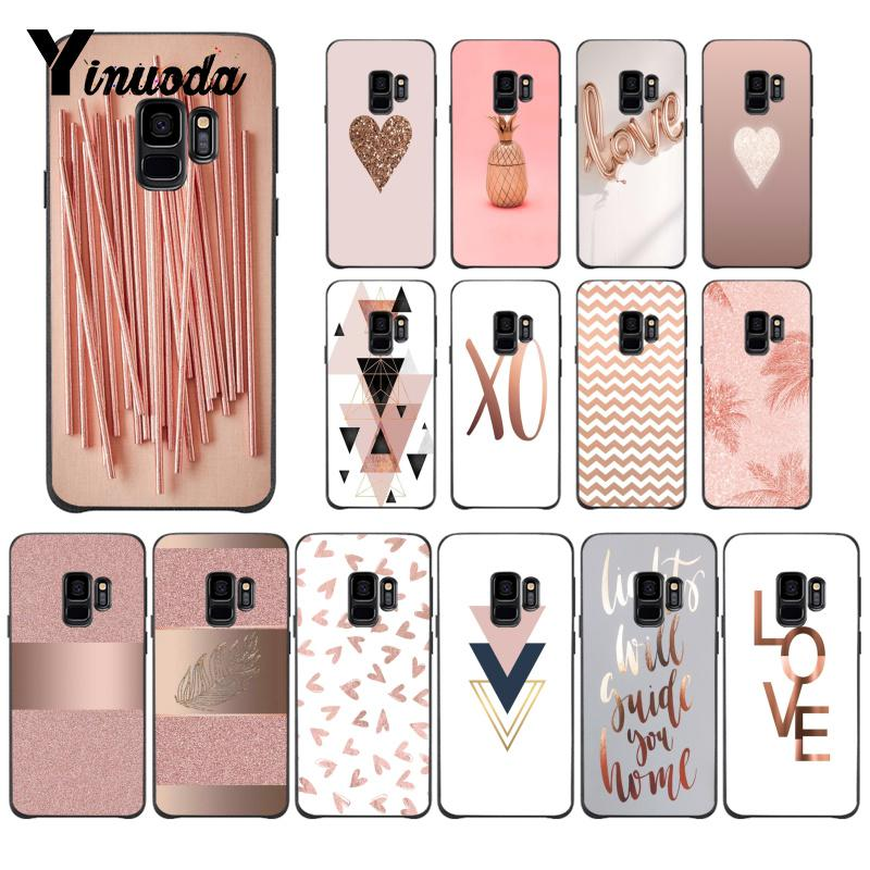 Yinuoda Love Heart Pineapple Black Soft Shell Phone Cover For Samsung GALAXY Note2 Note3 Note4 Note5 Note7 Note8 Note9