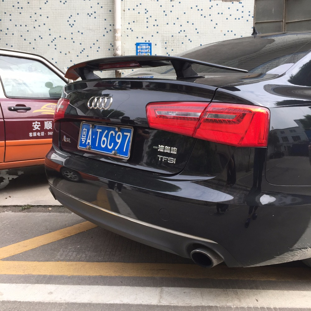 For Audi A3 A4 A5 A6 Spoiler ABS Material Car Rear Wing Primer Color Rear Spoiler For Audi A3 A4 A5 A6 Sports style Spoiler