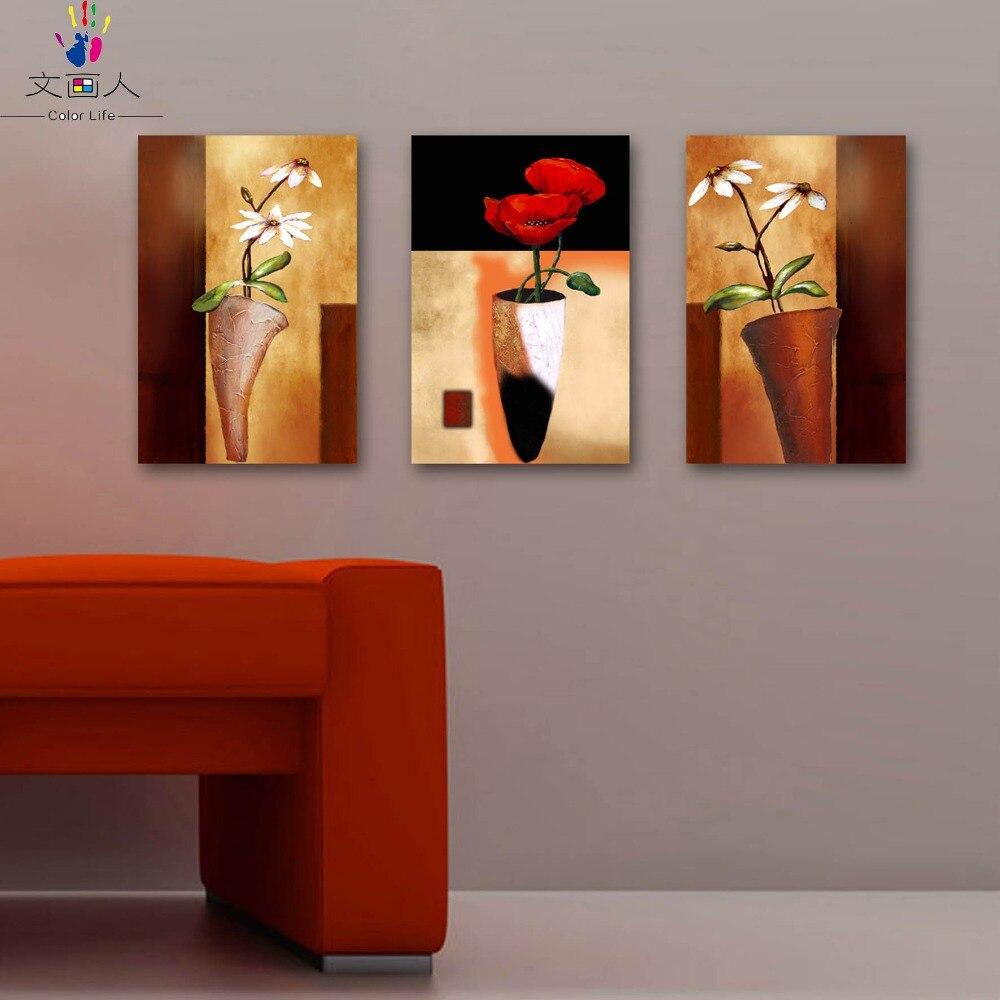 Coloriage par numéros 3 pièces fleurs heureuses peintures couleurs par numéros plante radis fleur peintures images colorations par numéros