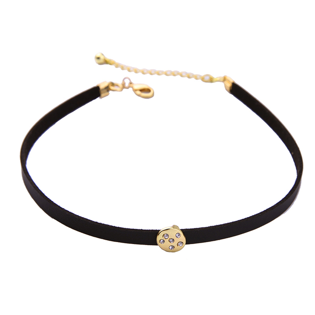 Three Layers Moon and Stars Choker Necklace in Antique Gold Color 2