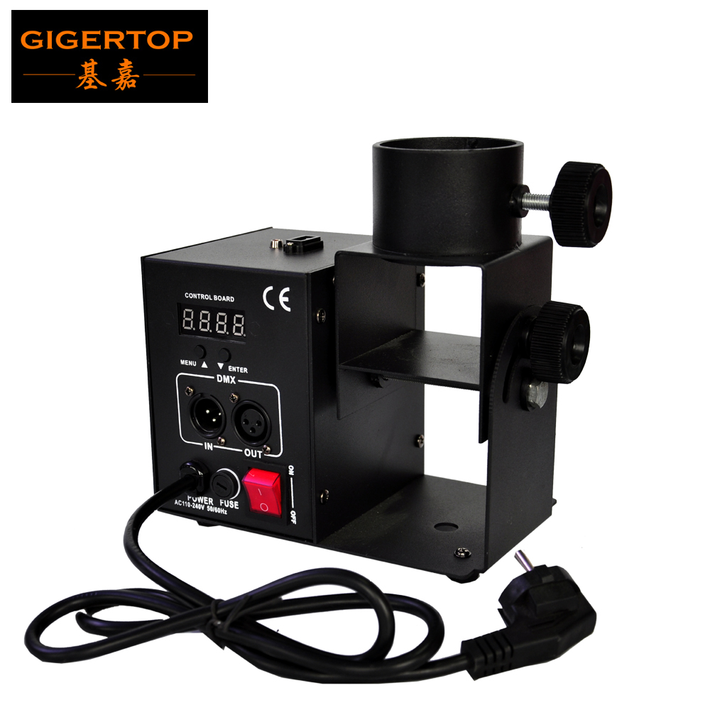 Gigertop TP-T181B-2 Simple Model One Shoot Confetti Cannon DMX Control Multi Angle Jet Fuse Trigger Compressed Air Tank Paper