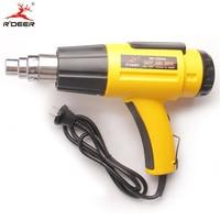 RDEER 2000W Digital Hot Air Gun 100 600 Degrees Temperature Adjustable Digital Lcd Display Time Delay Power Air Heat Gun Hot