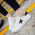 2017 New Autumn Summer Solid Color Low Canvas White Casual Brand Women Flat Shoes Fashion Lace Up Shoe Breathable
