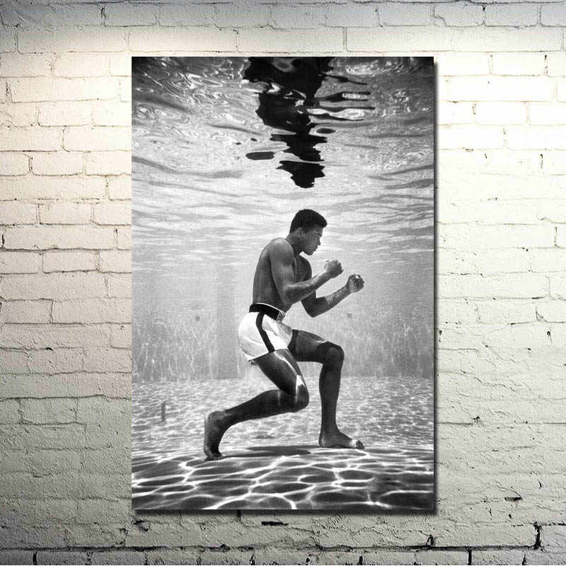 Muhammad Ali-Haj Boxing Boxer Champion Art Silk Fabric Poster Print 13x18 Sports Pictures For Bedroom Decor 010