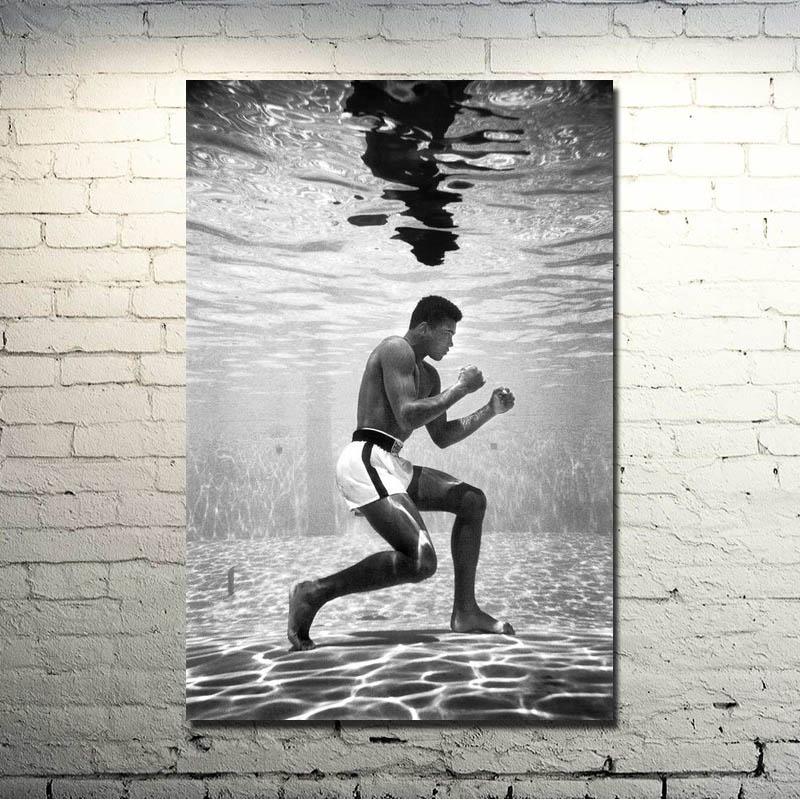 Muhammad Ali-Haj Boxing Boxer Champion Art Silk Fabric Poster Print 13x18 Sports Pictures For Bedroom Decor 010