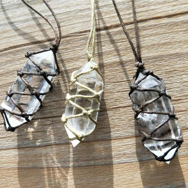 products hexagonal pendants natural markt pendant necklace grande necklaces fluorescent amboo crystal store