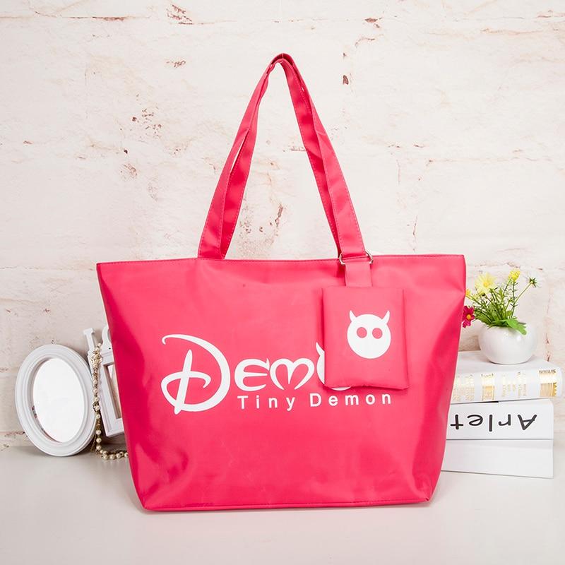 Women Shopping Handbag - Waterproof Shopping Tote Zipper One shoulder bag 2
