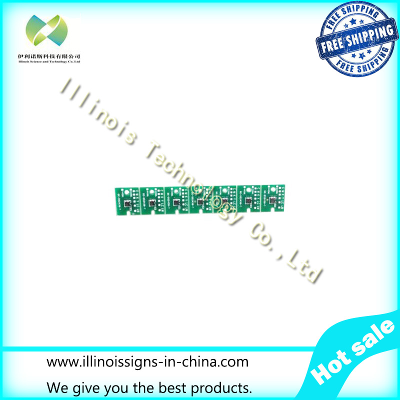 One-time Chip for Mimaki LH100-0371 UV Cartridge 7 colors CMYKLCLMWh printer parts