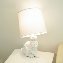 White Rabbit Table Lights Modern Creative Black Cloth Lampshade kids table lamp Living Room Bedside Desk Lamp Decor
